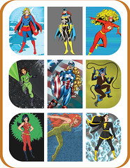 Mego Gals Poster (skipthefrogman) Tags: woman green art lady female america cat fun toy flash mary retro queen your doctor captain superhero packaging supergirl kit batgirl lantern custom build marvel doc miss own mego mera wondergirl skipthefrogman drmego