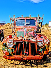 Old Rusted Relic (Krittergirl....sick.stomach virus) Tags: trucks relics oldtrucks ruralrelics abandonedtrucks