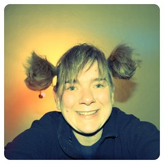 Piggies ( EkkyP ) Tags: smile self square upsidedown grin april 365 pigtails friday wah project365 365days 2013 hereio uploaded:by=flickrmobile flickriosapp:filter=flamingo flamingofilter