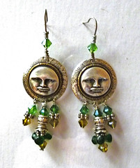 Pair of Moon earrings (sfjohnson54) Tags: silver jewelry earrings hobbies brass handmadejewelry swarovskicrystals wirewrappedjewelry sandrajohnson artisanearrings sandrajohnsonorlandoflorida sandrafayejohnsonorlandoflorida