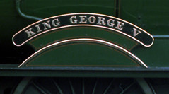 Railways - nameplate of 6000 'King George V' (Biffo1944) Tags: king central railway gloucester nameplate 460 6024 kinggeorgev