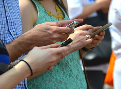 washingtondc dc washington phone rally cellphone science... (Photo: afagen on Flickr)