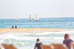 Mediterraneo (Juanedc) Tags: barcelona sea people espaa beach mar mediterranean mediterraneo playa catalonia barceloneta catalunya es catalua velero