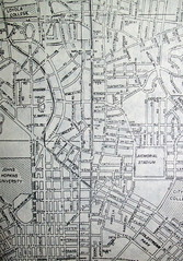 Baltimore MD  (April 1958) (davecito) Tags: blackandwhite map maryland baltimore ephemera planning 1950s transportation cartography loyola roadmap urbanplanning drafting johnshopkins midatlantic streetmap citymap oldmap mapco vintagemap highwaymap independentcities largestcities