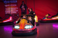 The excitement of it all (Kevin Day) Tags: night bumpercars slough berkshire kevday funfair georgegreen dodgem