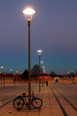 sunset at Mevlana Square in Konya (hasantr42) Tags: street light sunset turkey trkiye colourful konya gnbatm mevlana   akamgnei   molevi
