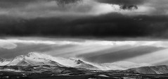 Arran Snow (Ice70) Tags: bw snow landscape scotland arran cloudescape