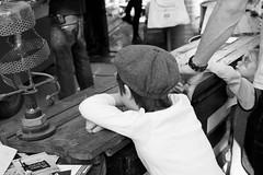 Young kid at the bar, Printemps des Nefs 2013 - Nantes (Olivier Decr) Tags: lamp hat bar lampe kid child casquette enfant nio