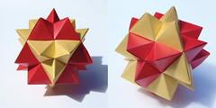 Second Stellation of the Cuboctahedron (sin cynic) Tags: paper james compound triangle origami geometry lucas modular cube tetrahedron solid truncation modularorigami octahedron cordenons cuboctahedron stellation stardream wenninger stellaoctangula