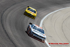 Nelson Piquet, Jr. leads Reed Sorenson during practice (HMP Photo) Tags: nascar autoracing motorsports speedway stockcarracing texasmotorspeedway reedsorenson nelsonpiquetjr circletrack nationwideseries asphaltracing nikond7000