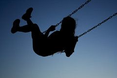 Madison Swing (California_Dreamin74) Tags: girl set dark dusk swing teen madison silouete
