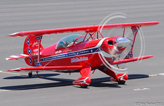 "Pitts S-2B ""Will Allen Airshows"" N12QW (Pasley Aviation Photography) Tags: arizona blur phoenix plane flying airport allen deer will valley prop stunt airshows s2 aerobatics tenor the pitts s2b n12qw"