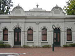 The Former Alexandra Mechanics Institute and Free Library  Corner Grant and Perkins Streets, Alexandra (raaen99) Tags: building heritage urn architecture town education pattern architecturaldetail library painted pillar 19thcentury decoration victorian australia victoria institute alexandra victoriana historical column stucco grantstreet 1877 publiclibrary parapet nineteenthcentury 1890s 1892 1883 classicalarchitecture 1870s 1880s countryvictoria grantst mechanicsinstitute adulteducation heritagelisted countrytown billiardhall architecturalfeature northeastvictoria freepubliclibrary architectunknown provincialvictoria perkinsstreet educationalestablishment victorianfreeclassical stuccoedbrick technicalinstitution victorianfreeclassicalbuilding victorianfreeclassicalarchitecture billardsaloon alexandramechanicsinstitute alexandrafreelibrary alexandrafreepubliclibrary clasicalbuilding