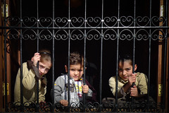 Three children in Aleppo, Syria - a country in crisis (Lil [Kristen Elsby]) Tags: travel portrait children child middleeast arab syria editorial conflict topv11111 crisis aleppo syrian halab behindbars travelphotography humanitariancrisis lx3 panasoniclumixlx3 humanitarianemergency