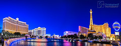 The Strip (Christopher.F Photography) Tags: las vegas blue panorama paris nikon pano flamingo palace panoramic strip hour bellagio fountains caesars d800 luminosity