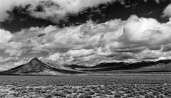 Scenic (jayvan) Tags: bw mountains clouds nv drama sagebrush highway50 austinhighway sonya77