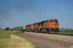 BNSF 7794 Exeter, NE AUG12 (CentralILRailfan) Tags: santa railroad electric burlington train nebraska general railway evolution trains denver ne il exeter lincoln series hastings fe northern ge rejected freight bnsf manifest galesburg es44dc gevo 7794 es44ac rejections railpicturesnet railpictures