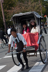 Hozu River Rickshaw (agaudin) Tags: people japan japanese kyoto arashiyama transportation   rickshaw jinrikisha