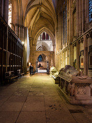 York Minster, private visit (alh1) Tags: york england corridor places arches nightshoot yorkminster tombs northyorkshire memorials