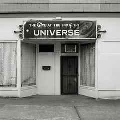 The Shop at the End of the Universe, Portland (austin granger) Tags: abandoned film shop mystery square portland closed time space business story galaxy memory storefront end planets universe milkyway gf670 austingranger