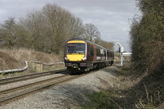 DMU set 170 523 approaching Water Orton East Junction. (Marra Man) Tags: waterorton turbostar 170523 axc arrivacrosscountry class1705 1p20