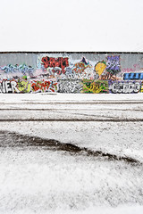 Spring in Denver (3) (dalioPhoto) Tags: street winter snow streetart building art lines weather vertical wall digital graffiti spring nikon colorado colorful tag wideangle denver covered blizzard acoma zigzag legal lumberyard jewell bannock d700 permissionwall kroonenberg daliophoto marcdalioall