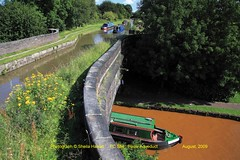 PC 584 Poole Aqueduct (Sheila Halsall) Tags: vacation england water canal cheshire britain postcard aqueduct redbull narrowboat poole flyover waterways macclesfield trentandmersey cheshirering fourcountiesring halsall kidsgrove sheilahalsall