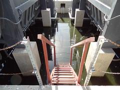 Stagnant Water in Bilge Pit Beneath Incinerators