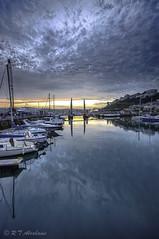 Blue Harbour (RTA Photography) Tags: bridge blue sunset sky water clouds reflections boats harbour torquay hdr sigma1020mm sigma1020mm456exdchsm nikond5000 mygearandme mygearandmepremium mygearandmebronze mygearandmesilver mygearandmegold
