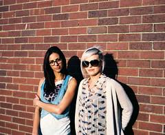 Sara & Amy (willbendall) Tags: girls portrait 120 film mediumformat glasses sara amy kodak bricks 6x7 ektar mamiya7