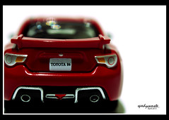 Toyota 86 (speedycamote) Tags: red scale car toy lumix back model olympus panasonic toyota limited 86 taillights tomica m43 mft gf2
