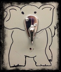Elephant (ThroughMyEyes_JKM) Tags: door elephant drawing hook uploaded:by=flickrmobile flickriosapp:filter=nofilter