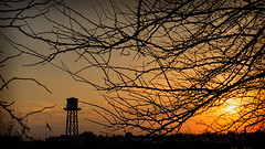 119/365 (2013): Sunset on Living History Farms (Kevin Riggins Photography) Tags: watertower iowa ia day119 urbandale westdesmoines livinghistoryfarms project365 day119365 3652013 365the2013edition 29apr13 2013apr365