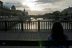 Contemplation (piper969) Tags: bridge sunset people paris river tramonto fiume ponte senna parigi