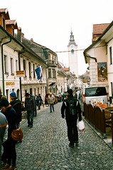 Kamnik (Peter Gutierrez) Tags: street old houses house streets building film buildings town photo ancient europe european republic market medieval peter slovenia gutierrez slovenija flea eastern stein narrow republika slovenian slovene kamnik slovenians petergutierrez
