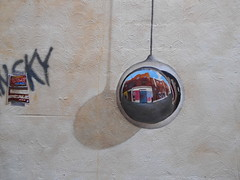 mirror ball (Joelk75) Tags: reflection art graffiti mirror alley tn knoxville tennessee marketsquare unionavenue wallavenue