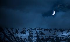 melting by moonlight (dtsortanidis) Tags: blue sky moon snow mountains night clouds canon landscape photography mark greece ii quarter 5d melt dimitris patra dimitrios erymanthos tsortanidis dtsortanidis