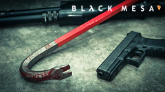 Black Mesa wallpaper (Broken Machine) Tags: life black half shotgun mesa crowbar glock spas