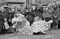 10136 (benbobjr) Tags: road street new uk party england blackandwhite white black festival dragon unitedkingdom year hill chinese newyear lincolnshire lincoln strait liondance steep midlands steephill eastmidlands cobbledstreet yearofthedragon chinesenewyearfestival thestrait