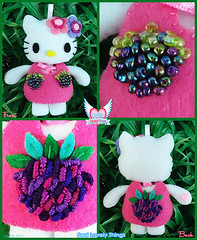 Berry Kitty (Soul Lovely Things) Tags: fruit design berry doll blackberry dress handmade hellokitty crafts craft felt kawaii raspberry crafty تصميم فن توت فستان إبداع كيوت قطة دمية فوشي berrykitty kawtharalhassan soullovelythings