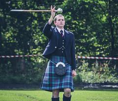 Drum Major;s Twirl! (FotoFling Scotland) Tags: kilt perthshire event highlandgames pitlochry kilted drummajor meninkilts pitlochryhighlandgames