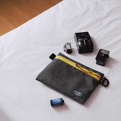 Flat Pouch Charcoal 07 (Imagery Bags) Tags: zipper ykk waterresistant flatpouch drypouch