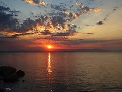 06:00..the morning sun (panoskaralis) Tags: sunrise sun clouds sky morning seaside sea bluesea beach mytilene port lesvosisland lesbos island greece hellas summer greeksummer summerholidays holidays outdoor sunset landscape shore cloud sony sonydschx60