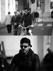 [La Mia Citt][Pedala] (Urca) Tags: milano italia 2016 bicicletta pedalare ciclista ritrattostradale portrait dittico bike bicycle biancoenero blackandwhite bn bw 872159