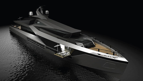 Футуристическая яхта Stella от Red Yacht Design