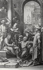 Phillip Medhurst presents John's Gospel: Bowyer Bible print 5551 Jesus is mocked John 19:2-3 Goltzius (Phillip Medhurst) Tags: john johnsgospel gospelaccordingtojohn gospel jesus christ jesuschrist bowyerbible bible bibleillustration goltzius mock reed crownofthorns purplerobe pilate