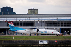 Luxair ~ Bombardier DHC-8-402Q Dash 8 ~ LX-LQB (jb tuohy) Tags: luxair bombardier dash8 lxlqb turboprop luxembourgairlines airline airplane aircraft plane avion aviation airport lcy transportation londoncity