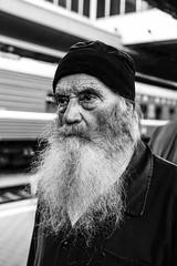 Enoch Simeon (Roman Lunin) Tags: religion orthodox beard monk cleric christianity trainstation railway streetphotography street streetphoto strangers portrait old aged priest ukraine  kiev