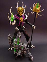 The Dread Sorcerer (Djokson) Tags: makuta magician mage necromancer dark magic death shadows fire gold black purple green skeletons undead spoopky djokson lego moc bionicle
