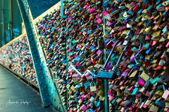 Locked (alexrepty) Tags: blurry locks cologne colours outside photowalk hohenzollernbrücke love steel depthoffield perspective bridge köln nordrheinwestfalen germany de